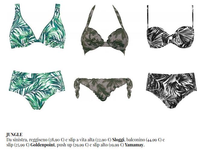 Bikini con stampe giungla estate 2017