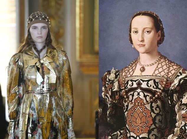 sfilata cruise 2018 di Gucci e il ritratto di Eleonora di Toledo col figlio Giovanni di Agnolo Bronzino, 1545